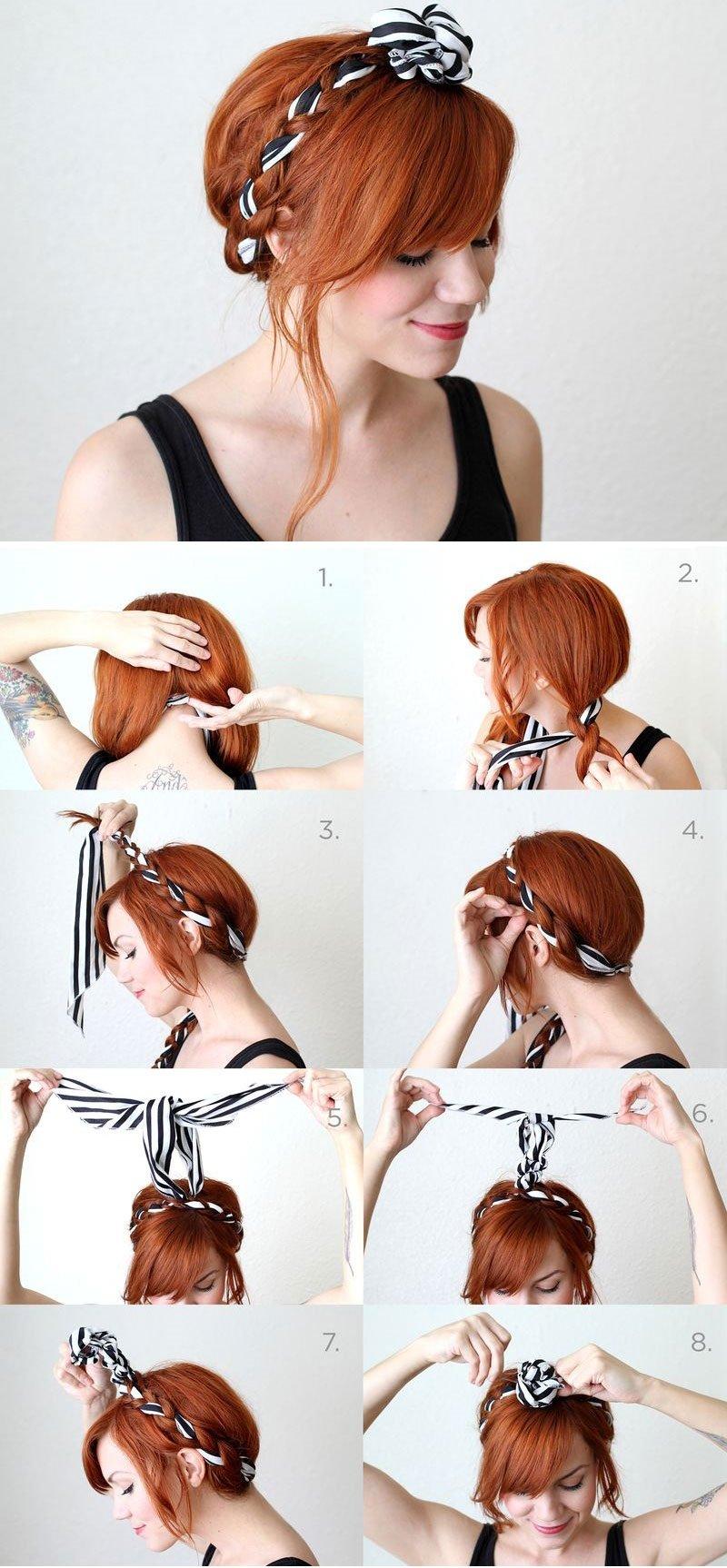 прическа за 5 минут на волосы