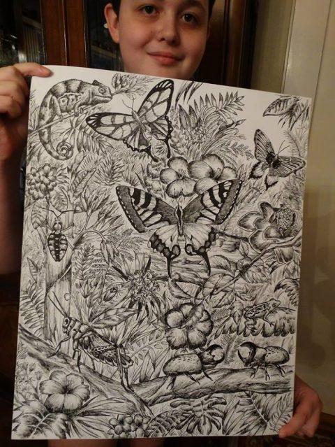 15-летний вундеркинд нарисовал невероятно детальную энциклопедию о животных